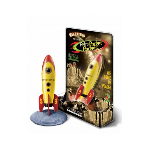 Big Teaze Toys - Retro Pocket Rockets - yellow